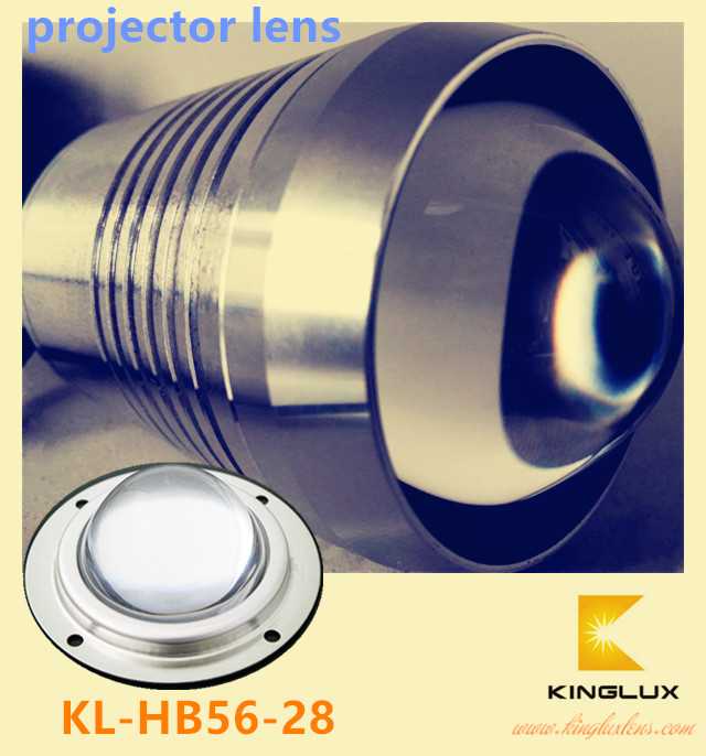 56mm led projector lens cob for cree