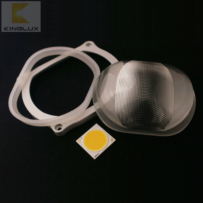 107mm 115*60 degree anti-glare optical led street light glass lens KL-SL107-87-E