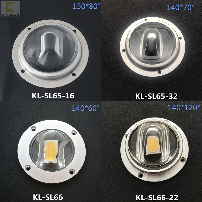 cob street light lenses 66mm diameter